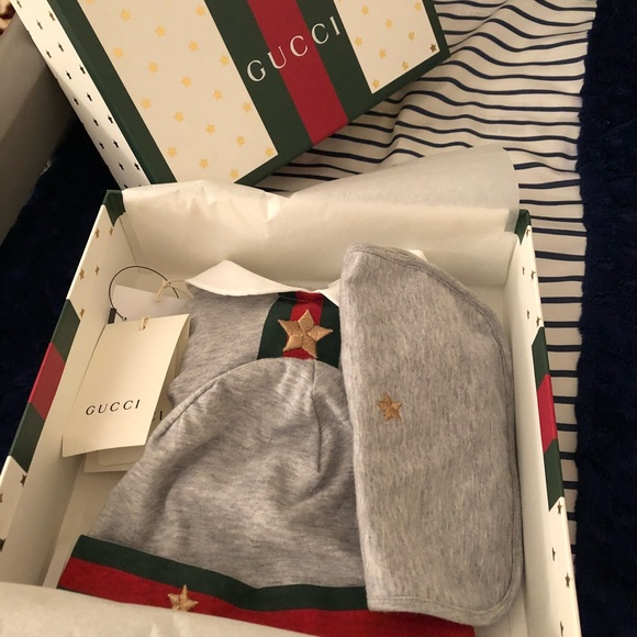 c12cb03c899ec Gucci Other - Web trim coverall Gucci baby gift set
